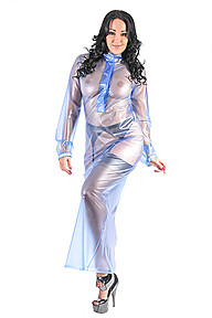 PVC Long Night Dress Plastilicious Plastic Fetisch Wear