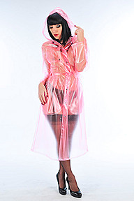 PVC Long Fashion Mac Plastilicious Plastic Fetisch Wear