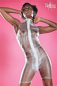 Sleeveless PVC Jumpsuit Plastilicious Plastic Fetisch Wear